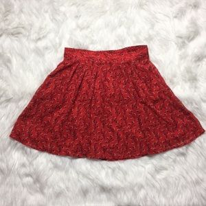 Old navy red skirt